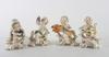 Figuriner, 4 st, porslin, goebel