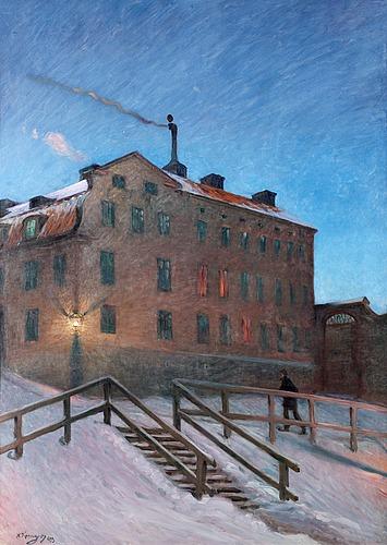 "Nils kreuger, ""gammalt hus i katarina"" (old house in katarina)."