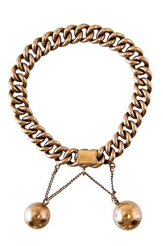 A golden bracelet.