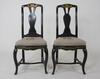 Stolar, ett par, rokoko, 1700-talets andra hälft.