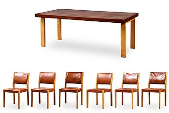 298. Alvar Aalto, A DINING TABLE AND CHAIRS.