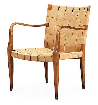 5. A Bruno Mathsson easy chair, Firma Karl Mathsson ca 1931.
