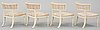 Four late gustavian circa 1800 armchairs.