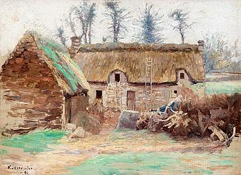 """GOTTFRID KALLSTENIUS, """"Bondgård i Bretagne""""."""