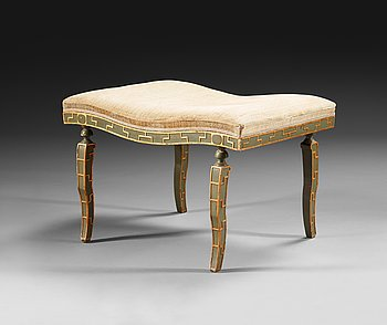 430. A Ture Ryberg stool, lacquered in olive green.