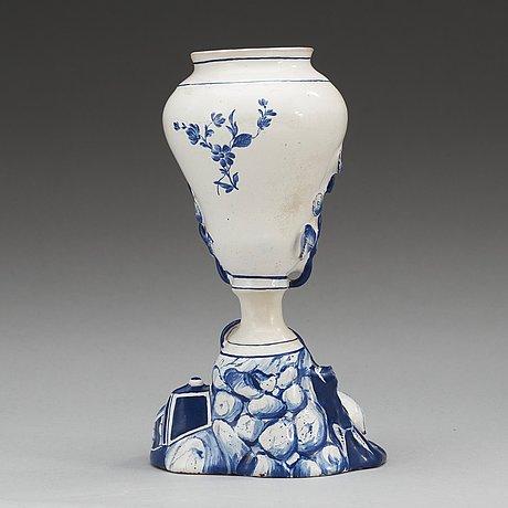 A swedish marieberg faience vase, 18th century.
