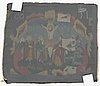 VÄvnad, gobelängteknik. 37,5 x 44,5 cm. sverige 1785. förmodligen vävd av en medlem av den berömda småländska prästsläkten rogberg-oxelgren.