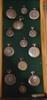 Samling fickur, 13 st, mest silver, 1800-1900-tal.