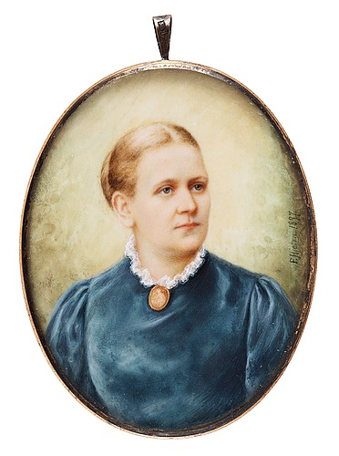 Fanny hjelm, female portrait.
