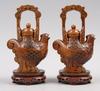 Tekannor, ett par, konstmassa, kina, 1900-tal.