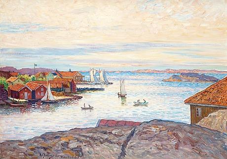 Anton genberg, motiv från fiskebäckskil.