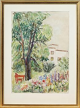 AGDA ÖSTERBERG, akvarell, signerad och daterad 1953.