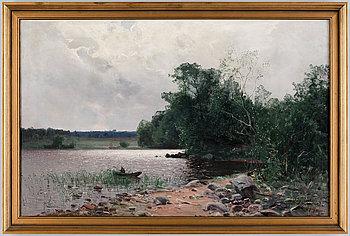 ALFRED THÖRNE, olja på duk, sign o dat 1884.
