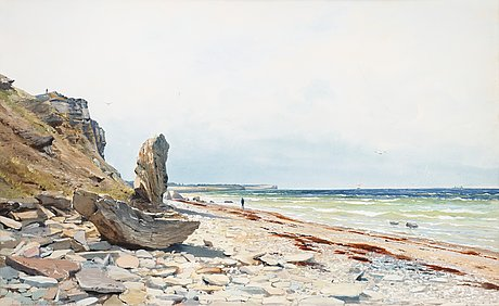 Anna palm de rosa, view over högklint from kopparsvik, gotland.