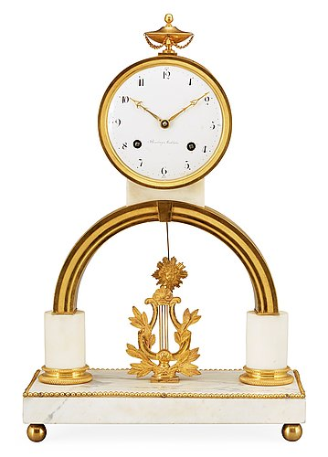 A late gustavian mantel clock by p. h. beurling.