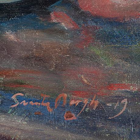 Svante bergh. sign och dat 1919. olja på duk.
