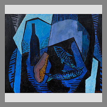 "14. Erik Enroth, ERIK ENROTH, ""STILL LIFE IN BLUE""."