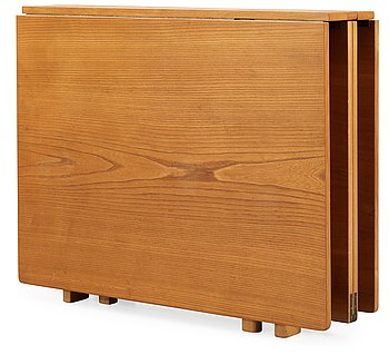 6. A Bruno Mathsson 'Maria' elm and birch gate-leg table.