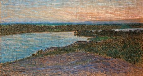 """Eugène jansson, """"högsommarnatt"""" (vy mot årstaviken)."""