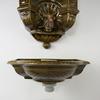 Handfat och vattencistern, keramik, england, 1900-tal.