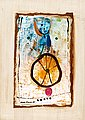 "MAX SALMI, ""CIRCUS WHEEL"". Sign. -80. Oil o..."