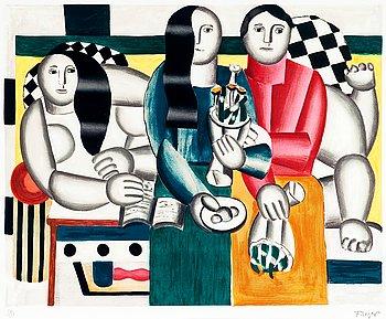267. Fernand Léger, NAISET JA KUKKAKIMPPU.