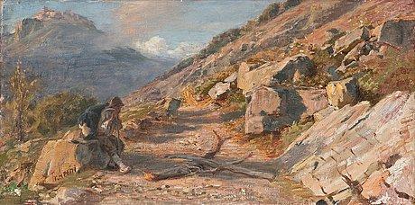 Franz theodor aerni, an italian landscape.