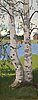 Juho rissanen, birches on the shore.