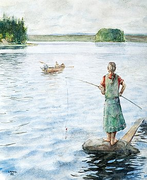 6. Ilkka Lammi, A GIRL FISHING.
