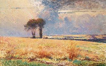 """ALFRED WAHLBERG, """"Åskvädersstämning från fälten vid Auvers""""."""