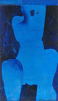 15. Max Salmi, A BLUE FIGURE.
