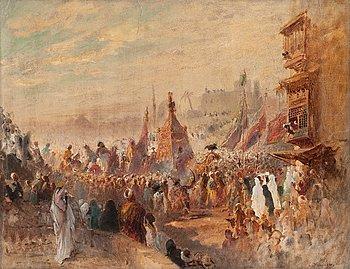 12. Konstantin Egorovich Makovsky, RELIGIOUS PROCESSION IN CAIRO.