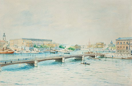 Anna palm de rosa, view of the royal palace and the national gallery.
