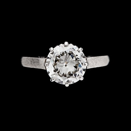 Ring, briljantslipad diamant ca 1.60 ct. 1950-tal.