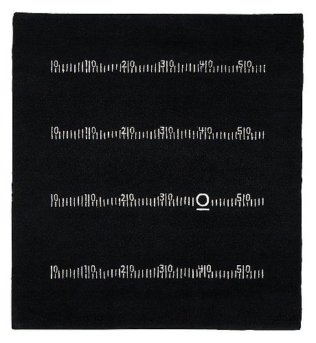 Matta Quot Centim 232 Tre Quot Black Board Rug Handknuten 248 5 X