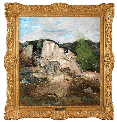 "Carl fredrik hill, ""kalkbrottet"" (the lime quarry)."