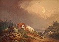 PER WICKENBERG, Landscape with resting cows...