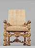 The audience chair of the swedish dowager queen hedvig eleonora (1636–1715) from the palace drottningholm 1709.
