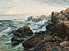 Felix frang-pahlama, rocks on the shore.