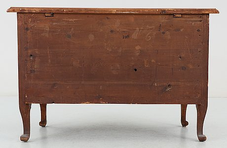 A swedish late baroque 18th century commode, signed by  j. h. fürloh.