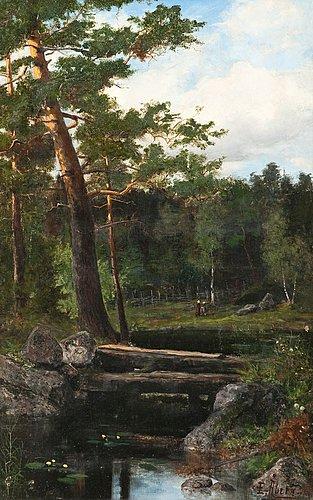 Emil Åberg, water lilies.