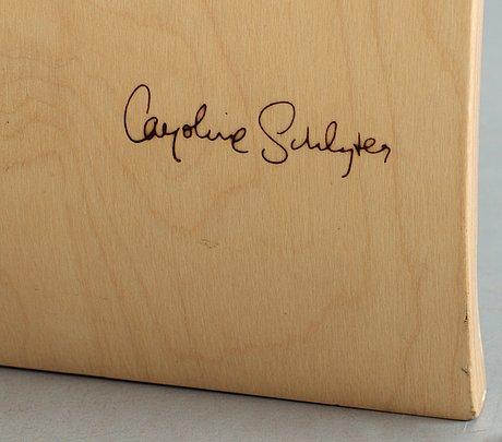 A caroline schlyter birch plywood table/bench.