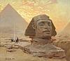 """Georg von rosen, """"sfinxen vid gizeh"""" (the great sphinx of giza)."""