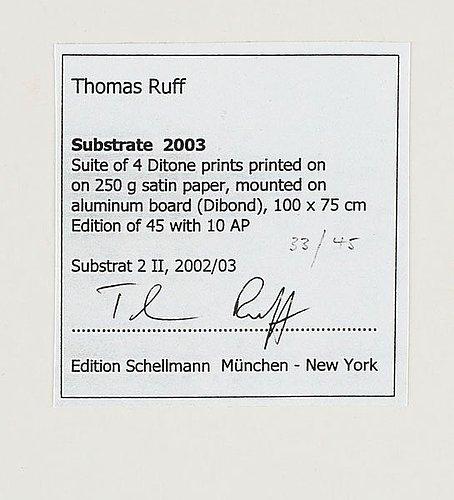 "Thomas ruff, ""substrate 2 ii"", 2003."