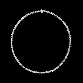 933. A magnificent brilliant cut diamond rivérè, tot. 36 cts.