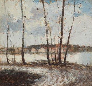 14. Ivan Pavlovich Pokhitonov, AUTUMN LANDSCAPE (IN THE OUTSKIRTS OF PARIS).