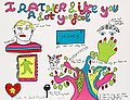"NIKI DE SAINT PHALLE, ""I like you rather a ..."