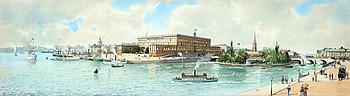 ANNA PALM DE ROSA, Utsikt mot kungliga slottet, Stockholm.