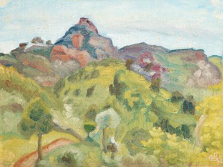 Ivan aguéli, spanish summer landscape.