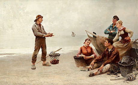 """August hagborg, """"the fisherman's story""""."""